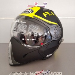 CASCO AIROH J106 SMOKE BLACK MATT - NERO OPACO