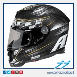 CASCO INTEGRALE AIROH GP 500 CHECK BLACK MATT- NERO