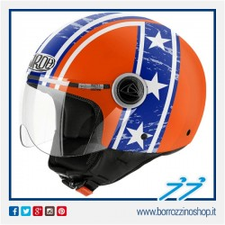 CASCO AIROH URBAN JET COMPACT HAZZARD ORANGE GLOSS - ARANCIO LUCIDO