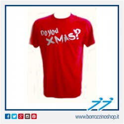 T-SHIRT VESPA XMAS COLLECTION COLORE ROSSO