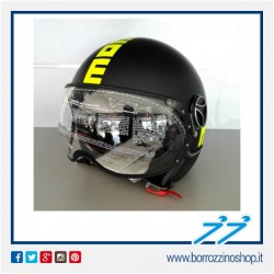CASCO MOMO NEW FIGHTER FLUO NERO OPACO FROST / GIALLO FLUO