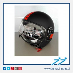 CASCO MOMO NEW FIGHTER FLUO NERO OPACO FROST / ARANCIO FLUO