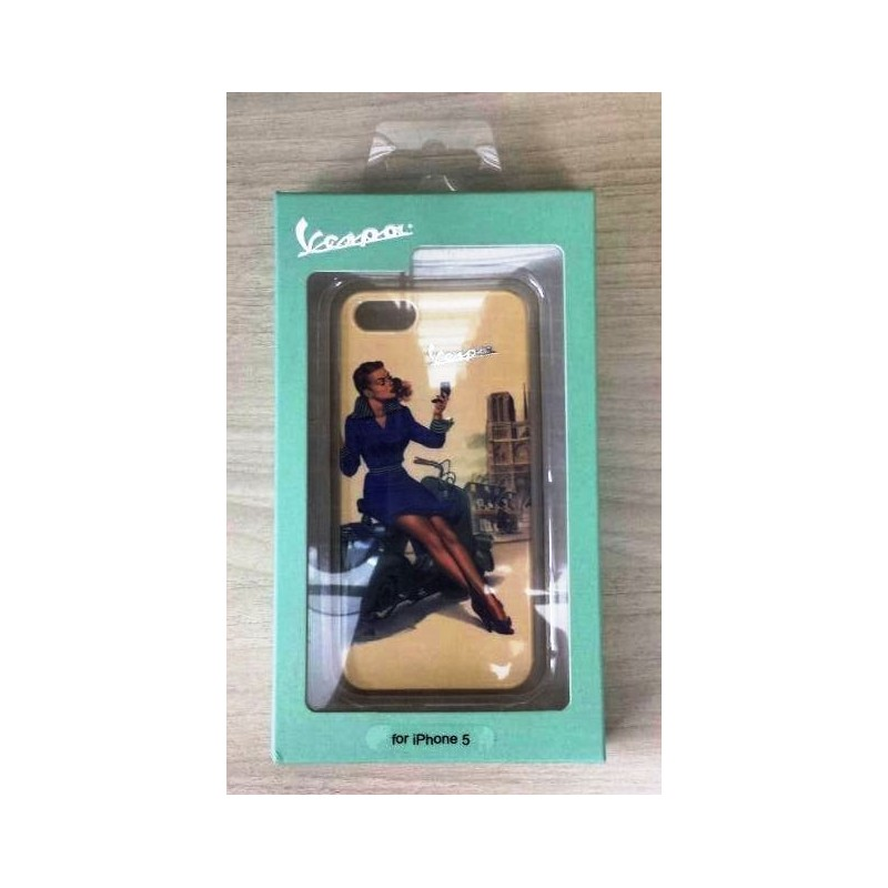 COVER CUSTODIA RIGIDA PARIS PIN UP ORIGINALE VESPA PER IPHONE 5 - Borrozzino Shop