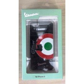 COVER CUSTODIA RIGIDA TARGET BLACK ORIGINALE VESPA PER IPHONE 5