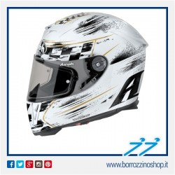 CASCO INTEGRALE AIROH GP 500 CHECK WHITE - BIANCO