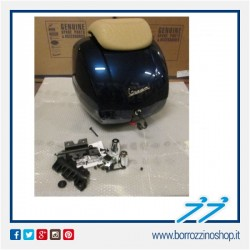 NUOVO BAULETTO ORIGINALE VESPA GTS 125/300 SUPER BLU 222/A 42 lt - NEW 2016