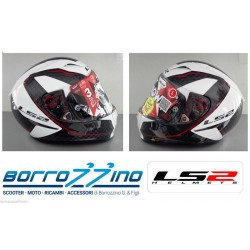 CASCO IN CARBONIO LS2 FF323 ARROW C FURY CARBON WHITE - BIANCO - CON SISTEMA E.R.S - PINLOCK INCLUSO