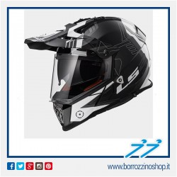CASCO HELMET LS2 CROSS ENDURO MX436 PIONEER TRIGGER BIANCO NERO - BLACK WHITE