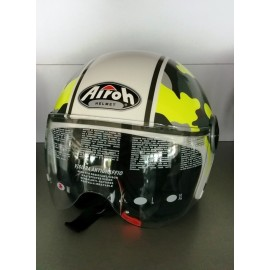 CASCO AIROH JET COMPACT MILITARY CPM70 YELLOW GLOSS