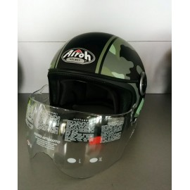 CASCO AIROH JET COMPACT MILITARY CPM70 GREEN GLOSS TAGLIA M