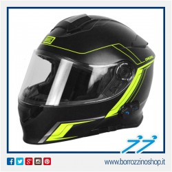 CASCO ORIGINE DELTA MOTION MODULARE NERO OPACO LIME - MATT BLACK LIME BLUETOOTH INTEGRATO