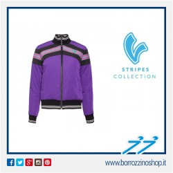 BOMBER V -STRIPES DONNA VIOLA WOMAN