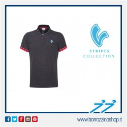 POLO V-STRIPES UOMO COLORE BLACK M/C MAN