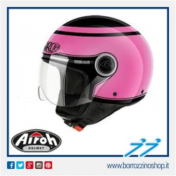 CASCO MOTO JET AIROH COMPACT PRO BEEZE ROSA LUCIDO - GLOSS PINK