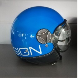 CASCO MOMO DESIGN FIGHTER CLASSIC BLU COBALTO DEC. BIANCA