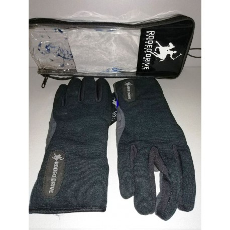 GUANTI GLOVES SCOOTER RODEO DRIVE MOD. COMFORT NERO IN TESSUTO