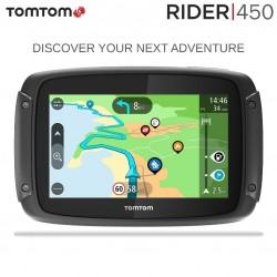 TOMTOM RIDER 450 NAVIGATORE SATELLITARE MOTO GPS MAPPE DEL MONDO / AUTOVELOX GRATIS A VITA