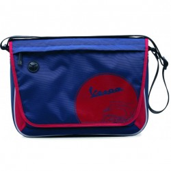 BORSA TRACOLLA MESSENGER TRACK BLUE/RED