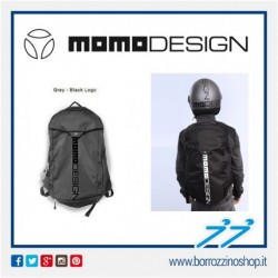ZAINO GRIGIO - LOGO NERO MOMODESIGN BACKPACK MD-ONE 2019