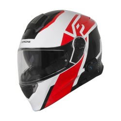 CASCO ORIGINE DELTA LEVEL RED-WHITE BLUETOOTH INTEGRATO MODULARE BIANCO/ROSSO