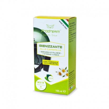KIT INTERNO CASCO 100 ML – Igienizzante alla Camomilla – Pulizia del casco