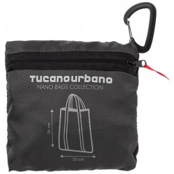 Tucano Urbano 476NT NANO SHOPPER BAG - acqua-impermeabile, super-Compact SHOPPER BAG, Titanium black