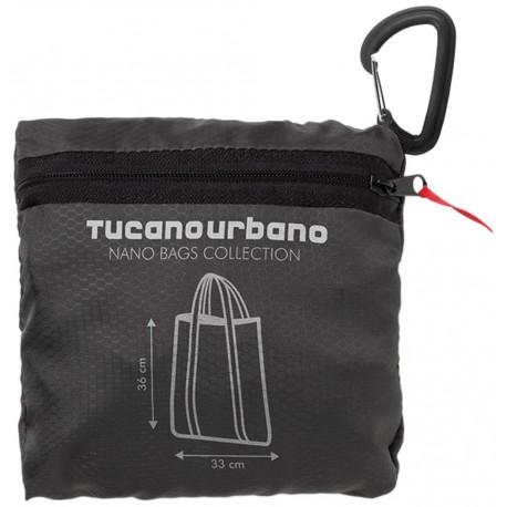 Tucano Urbano 476NT NANO SHOPPER BAG - acqua-impermeabile, super-Compact SHOPPER BAG, Titanium black