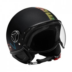CASCO MOMODESIGN FIGHTER PIXEL NERO OPACO