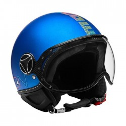 CASCO MOMODESIGN FIGHTER PIXEL BLU OPACO