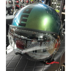 CASCO MOMODESIGN FGTR CLASSIC POP VERDE LUCIDO IRIDISCENTE - BLU * NEW *