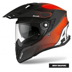 CASCO MOTO AIROH COMMANDER PROGRESS ORANGE MATT OPACO FIBRA HPC ARANCIO