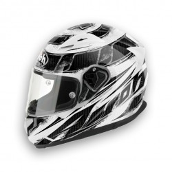 CASCO INTEGRALE AIROH T600 KNIFE WHITE IN FIBRE COMPOSITE CARBONIO/ KEVL-AR