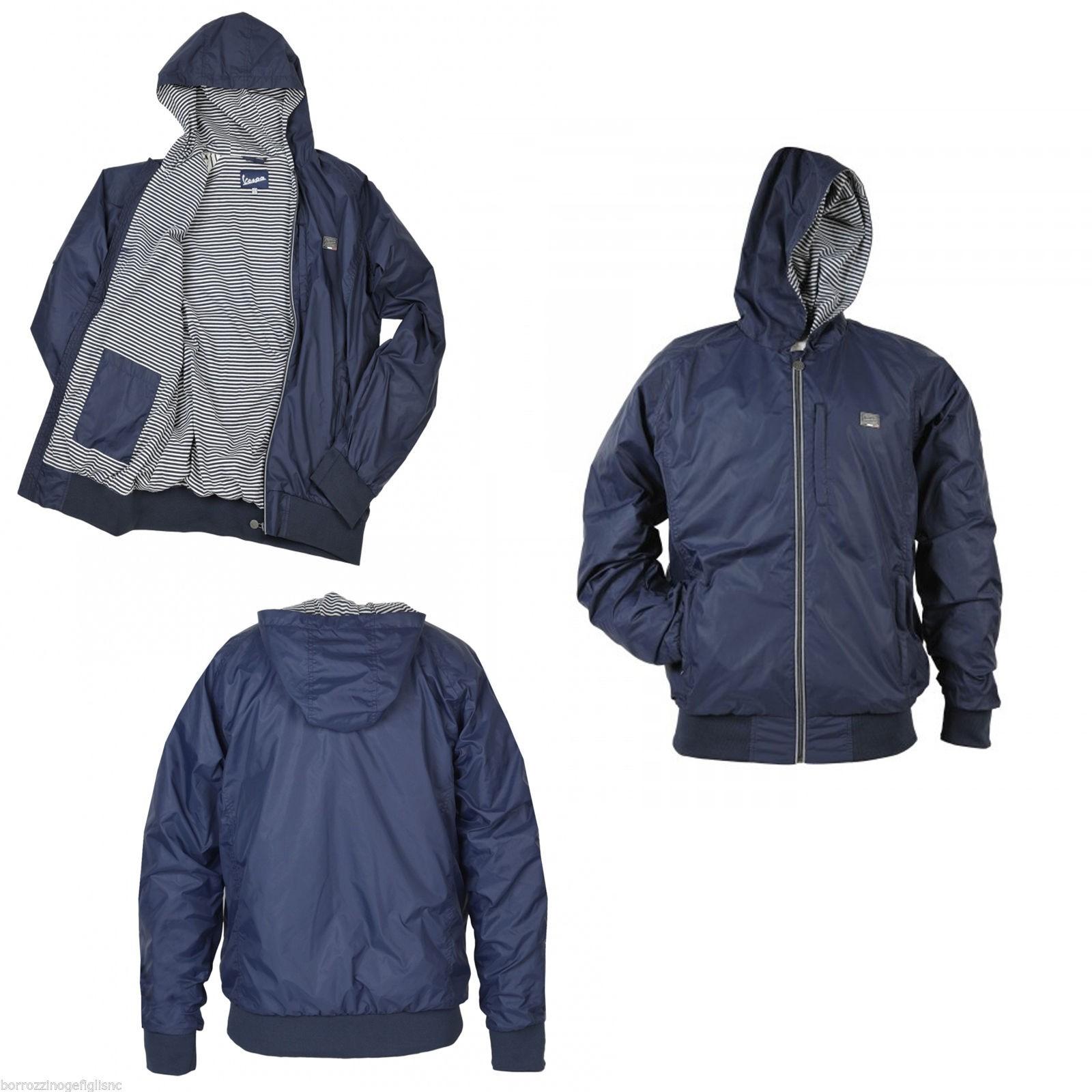 new product ad3e3 55b22 GIACCA A VENTO UNISEX ORIGINALE VESPA COL. BLU - Borrozzino Shop