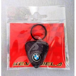 Portachiavi - 4R Key Shield Carbon con stemma 12mm Carbon Look Logo BMW
