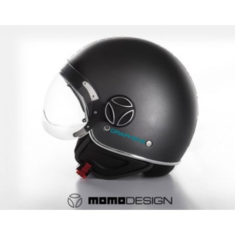 MOMO DESIGN FGTR EVO BLACK MATT CASCO MOTOCICLISMO FGTR EVO NERO